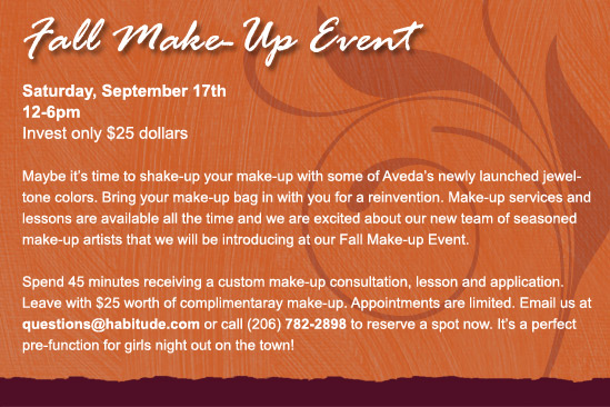 Fall Make-Up Event
